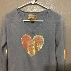 White Label Heart Sequin Sweater
